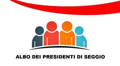 Albo delle persone idonee all'ufficio di Presidente di seggio elettorale